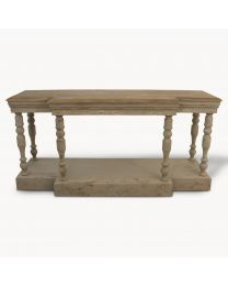 Oak Top And Colonial Grey Console Table