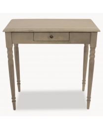 Woodcroft Colonial Grey Table With Drawer