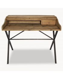 Reclaimed Pine And Iron Desk