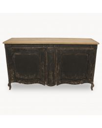 Woodcroft Vintage Oak Black Sideboard