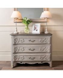 Westcroft Colonial Grey Three Drawer Commode