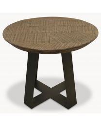 Woodcroft Small Oak And Iron Side Table
