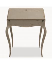 Woodcroft Colonial Grey Small Desk With Shaped Legs