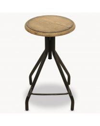 Woodcroft Oak Stool With Foot Rest