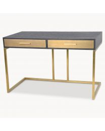 Ebony Wood And Brass Desk