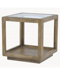 Woodcroft Oak And Glass Side Table