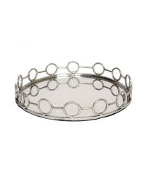 Signature Large Round Circle Band Stainless Steel Tray - Pre-Order - Due Mid July