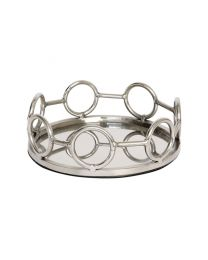 Signature Small Round Circle Band Stainless Steel Tray - Pre-Order - Due Mid July