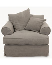 Kingswood Grey Linen Lounge Chair
