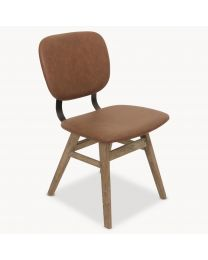 Kingswood Faux Leather And Oak Dining Chair
