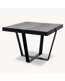 Kingswood Oak And Metal Side Table