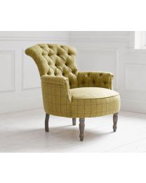 Elsie Arran Mustard Buttoned Back Chair