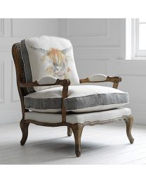 Florence Highland Coo Oak Chair