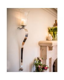 Signature Large Pair Of Curved Candle Sconces