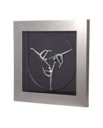Framed Silver Deco Wall Art