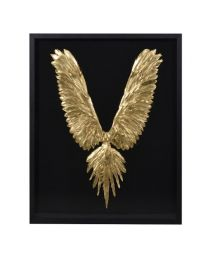 Gold Feather Wings In Frame