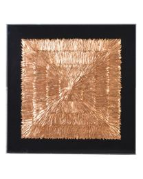 Gold And Copper Feather Framed Wall Art