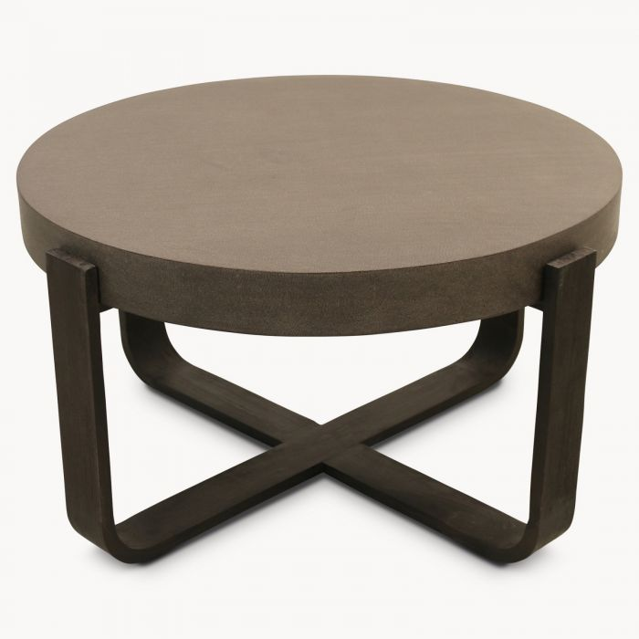 Tremendous Malvern Lava Stone And Wood Round Coffee Table Cjindustries Chair Design For Home Cjindustriesco
