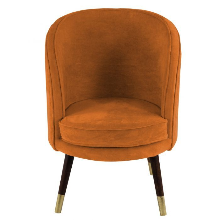Remarkable New Signature Sloane Velvet Burnt Orange Chair Made To Order Squirreltailoven Fun Painted Chair Ideas Images Squirreltailovenorg
